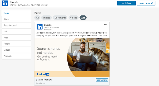 How to view competitors ads on LinkedIn