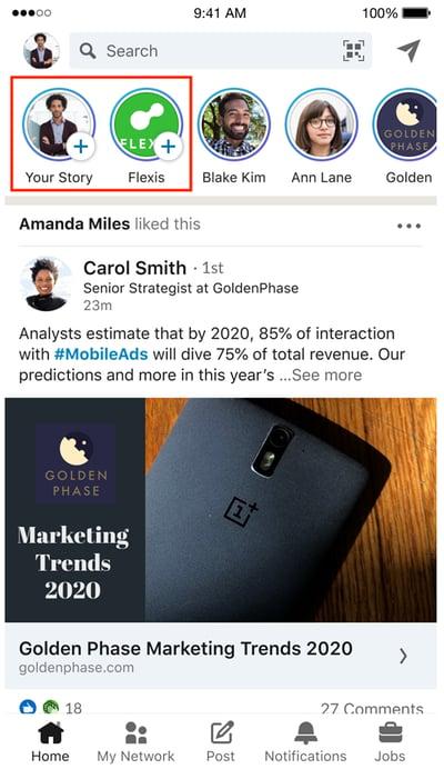 How-to-share-a-LinkedIn-story