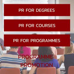 PR for degrees _ courses _ programmes
