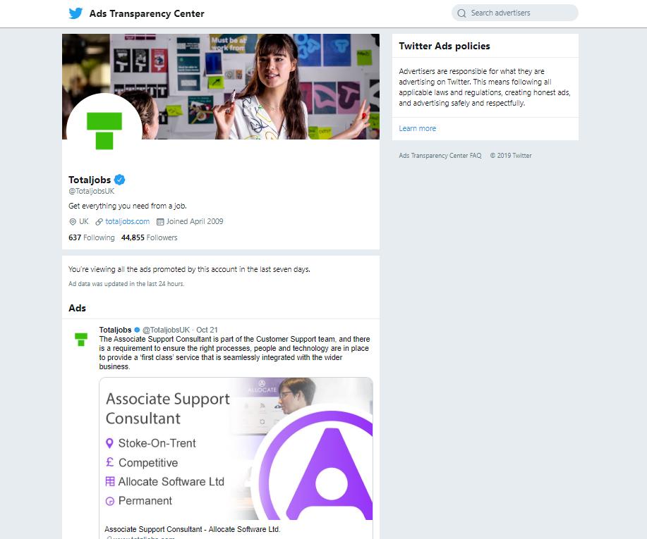 TotalJobs - Twitter