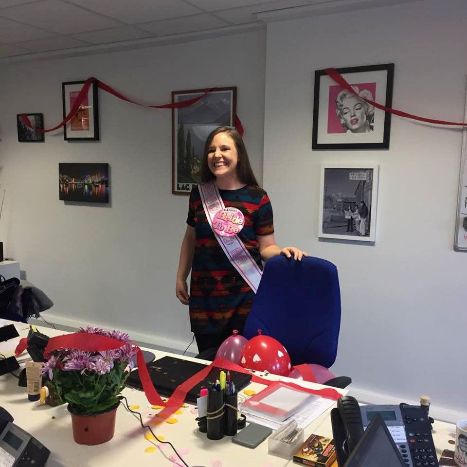 12. We decorated her desk when Kerry got engaged Nov 2016