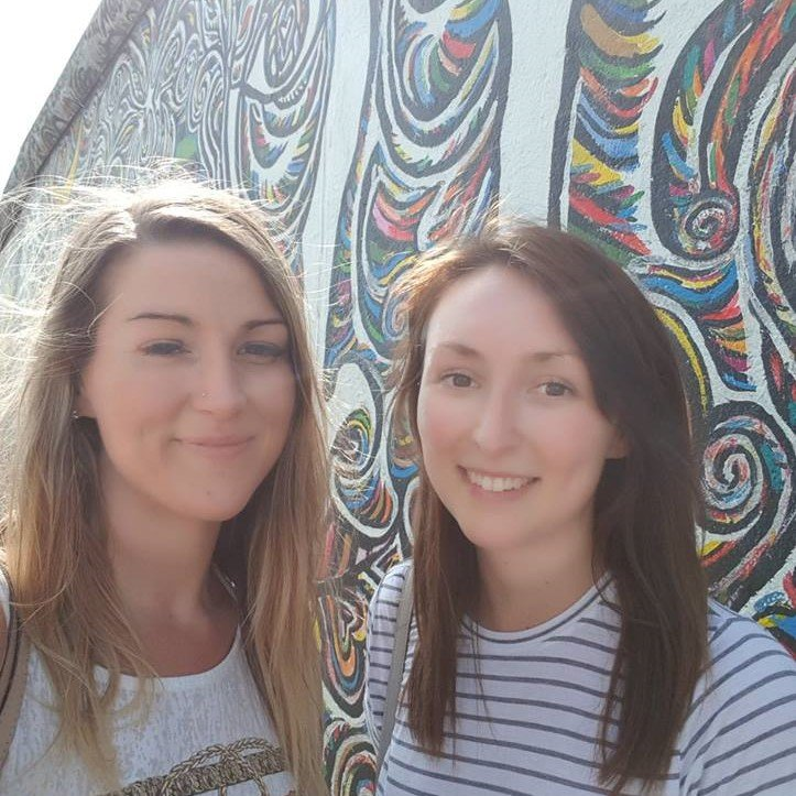 21. Steph and Natalie in Berlin on client visit August 2018