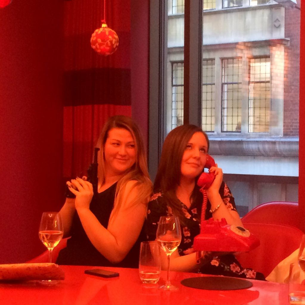 7. Stephanie Mullins and Kerry Ruffle at the BlueSky Christmas Party December 2014